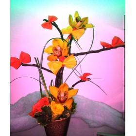 Аранжировка с орхидея