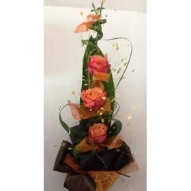 Букет от оранжеви  рози