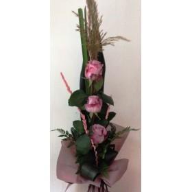 Букет от пепеливи  рози