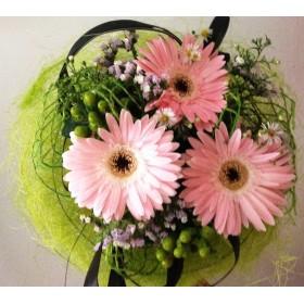 Букет розови гербери