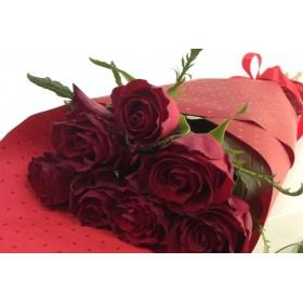 Букет от 7 бр. червени рози