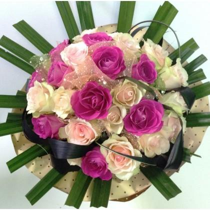 Букет розови рози от www.cvetarski.com
