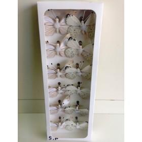 Пеперуди - бяло и екрю 5см