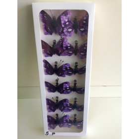 Пеперуди - лилаво и светло лилаво 5см