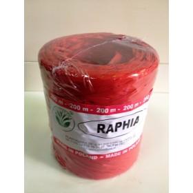 Рафия - синтетична червена