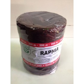 Рафия - синтетична кафява