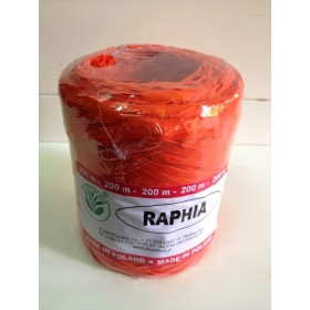 Рафия - синтетична оранжево