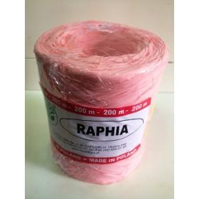 Рафия - синтетична розово