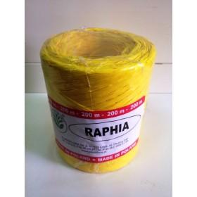 Рафия - синтетична жълто