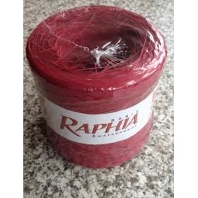 Рафия - синтетична бордо