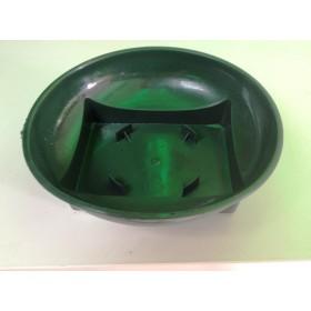 Пластмасова чиния зелена - кръгла