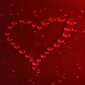 картина - сърце от капки