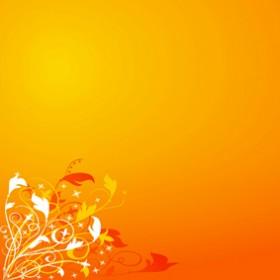 картина - оранжеви цветя