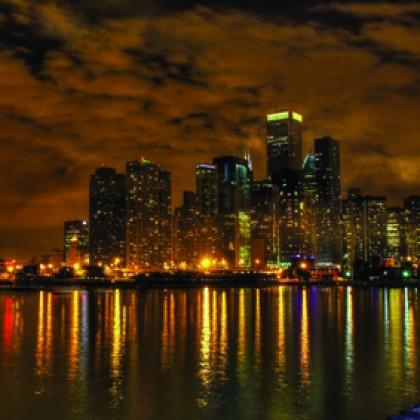 картина - вечер в Ню Йорк от www.cvetarski.com