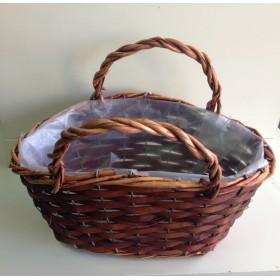 Кошница - чанта кафява