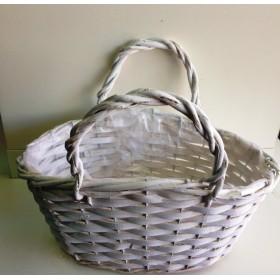 Кошница - чанта бяла
