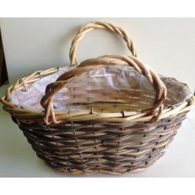 Кошница - чанта екрю