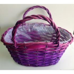 Кошница - чанта лилава