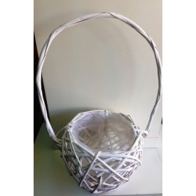 Кошница  Лукс- кръгла бяла 1бр