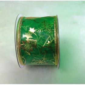 Коледна Панделка -Зелена