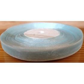 Тънка панделка органза - синя 1см