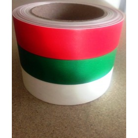 Панделка Мат - бяло, зелено, червено