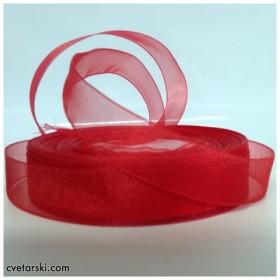 Панделка Органза - червена