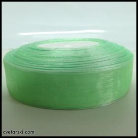 Панделка Органза - светло зелена