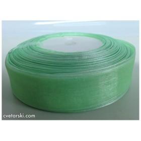 Панделка Органза - зелена