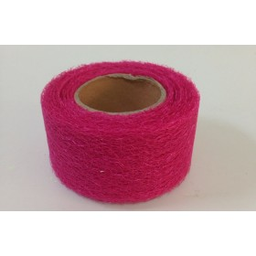 Панделка мрежа текстил - цикламена