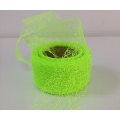 Панделка мрежа текстил - светло зелена от www.cvetarski.com