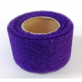 Панделка мрежа текстил - тъмно лилава