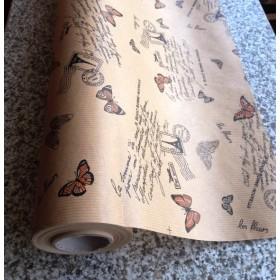 Крафт хартия - оранжеви пеперуди