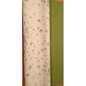 Хартия - листа и пеперуди - зелено