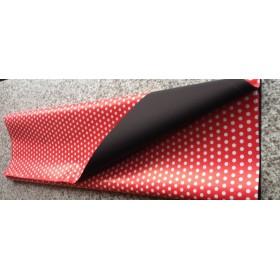 Хартия - двустранна - Червено и черно на големи точки