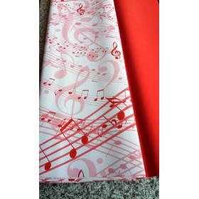 Хартия - Големи ноти - червено