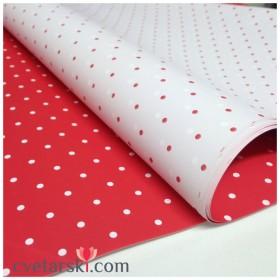 Хартия - червено и бяло на точки