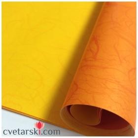 Хартия - двустранна - светло и тъмно оранжево