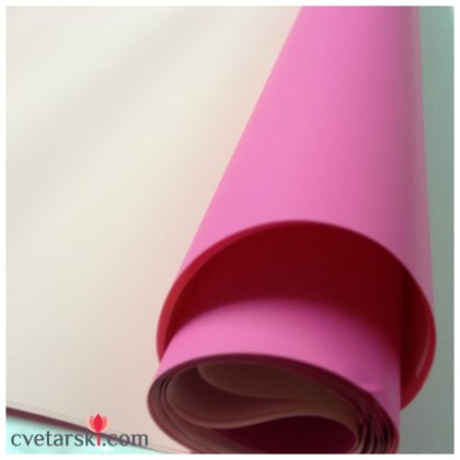 Хартия - двустранна - светло и тъмно розово от www.cvetarski.com