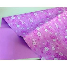 Хартия - двустранна - лилаво на цветя