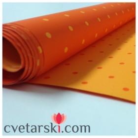 Хартия - двустранна - оранжева точка