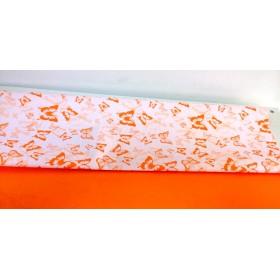 Хартия - двустранна - оранжеви пеперуди