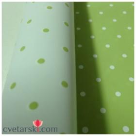 Хартия - двустранна - зелена точка