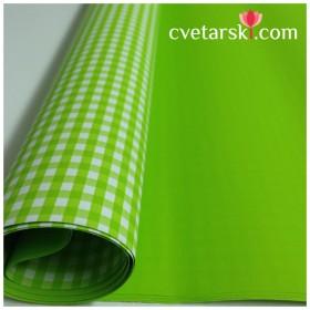 Хартия - двустранна - зелено каре 50-50