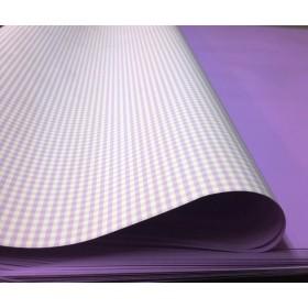 Хартия - светло виолетово каре