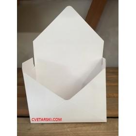 Плик - пощенски за цветя - бял