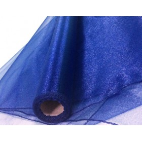 Органза - тъмно синьо