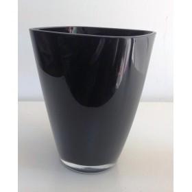 Кашпа цветно стъкло - черно
