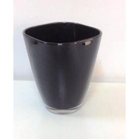 Кашпа цветно стъкло - черно малка