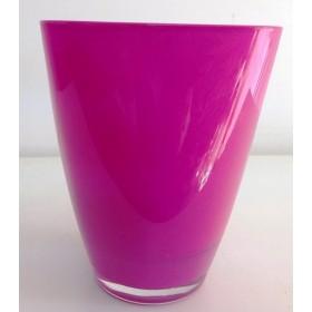 Кашпа цветно стъкло - циклама